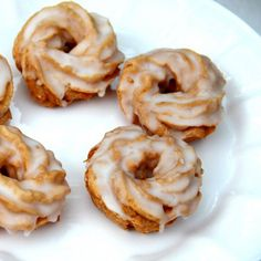 French crullers made with pâte à choux, which are lighter than air!