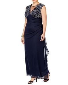 b745aeaebcb Betsy   Adam Womens Plus Embellished Ruched Formal Dress