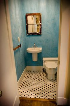Paint Style: Distressed Blue Walls...this Looks So Quaint For The Downstairs Part 39