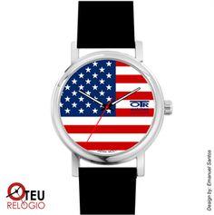 Mostrar detalhes para Relógio de pulso OTR BANDEIRA AMERICANA LOC 006