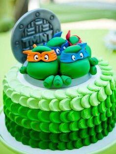 pastel de tortugas ninjas - Google Search                                                                                                                                                                                 Más