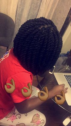 Yarn twists bob by Soexquisitebraids                                                                                                                                                                                 More