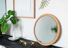 DIY Cork Mirror