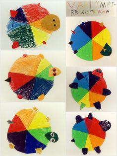 Väriympyräkilpikonnat.
