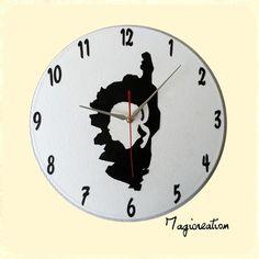 Horloge vinyl 33 tours  la Corse