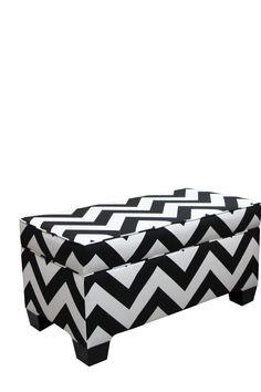 black & white storage bench