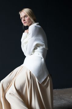 NFP Wrap Neck Cardigan and Silk Charmeuse Gown:  #N5 + #F12 http://nfpstudio.com