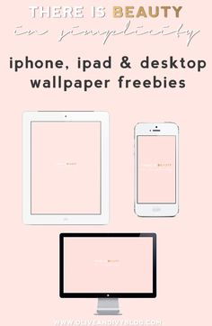 """there is beauty in simplicity"" wallpaper for desktop, ipad and iphone Pink Wallpaper Desktop, Blush Pink Wallpaper, Macbook Air Wallpaper, Macbook Desktop, Hello Kitty Wallpaper, Imac Wallpaper, Custom Wallpaper, Wallpper Iphone, Dress Your Tech"