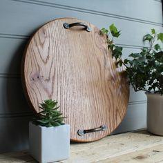 Large Handmade Oak Bread Board / Sharing board / rustic oak board / rustic cheese platter / wooden plate / natural cheese board /tapas board by SuzieValentineAllan on Etsy