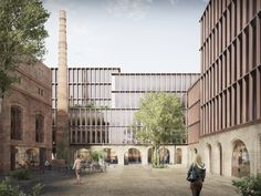 Schmidt Hammer Lassen Wins Competition for Redevelopment of Riga Historic Quarter,Surfaces and facades are constructed from recycled brick. Image Courtesy of Schmidt Hammer Lassen Architects