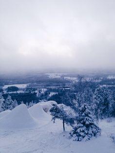 Snowy winter day #snow #snowy #winter #vinter #snö #slalom #skiing
