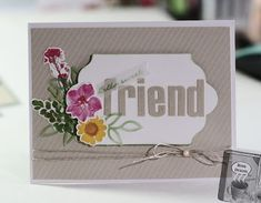 Friend card Home Designs by Amanda: February Paper Pumpkin Alternatives...wildflower wishes