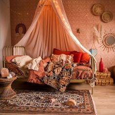 Bohemian Chic Home, Hippie Chic Decor, Modern Boho, Girls Bedroom, Bedroom Decor, Bedrooms, French Home Decor, Big Girl Rooms, Decoration Design