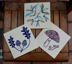 autumn- lino printed cards   Flickr - Photo Sharing!