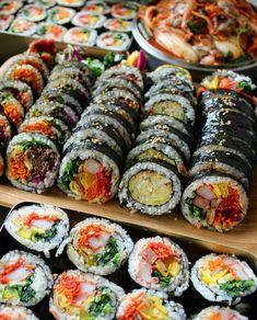 food aesthetic Image in Korean👄foods&drinks collection by Ichikawa tsubaki Sushi Recipes, Asian Recipes, Cooking Recipes, Healthy Recipes, Korean Street Food, Korean Food, Chinese Food, Food Platters, Food Goals