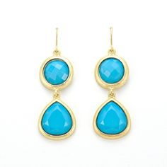 Marlyn Schiff Turquoise Double Drop earrings