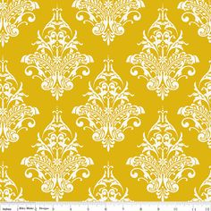 Yellow Damask Remember Riley Blake Fabrics C3211 - https://www.stitchesquilting.com/shop/rb-cg-remember-c3211-red/