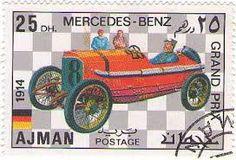 Ajman Stamp - Mercedes Benz Grand Prix