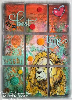 Susanne Rose - Papierkleckse: Mixed Media Pocket Letter Video Tutorial