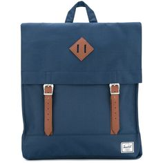 Herschel Supply Co. double strap square backpack (18.350 HUF) ❤ liked on Polyvore featuring bags, backpacks, blue, herschel supply co backpack, square backpacks, blue backpack, backpack bags and knapsack bag