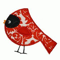 Christmas Cardinal Applique Embroidery Design
