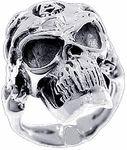 Biker Rings, Sterling Silver Skull Rings, Men's Skull Rings, Biker Skull Rings, Skulls Rings.