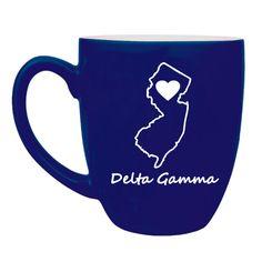 Delta Gamma Sweet Home Bistro Mug  from GreekGear.com