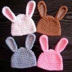 gorro bebe crochet conejo