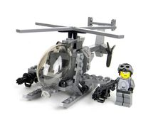 Army Little Bird Helicopter- Army Little Bird Helicopter With custom miniguns! This Set Comes In A Box And Includes:Over 93 Real LEGO® P Little Bird Helicopter, Lego Helicopter, Lego Plane, Lego Ww2, Lego Army, Lego Mecha, Lego Bionicle, Lego Mini, Lego Sports
