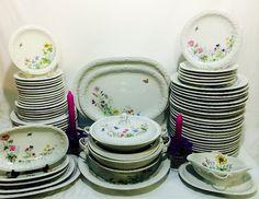 Antigo aparelho de jantar em porcelana Saler - anos 40/50