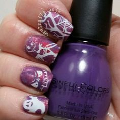 Halloween nails Halloween Nail Art, Nail Polish, Beauty, Color, Beleza, Colour, Nail Polishes, Manicures, Colors
