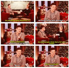 Cory Monteith confirming his relationship with Lea Michele on Ellen. Aww #monchele