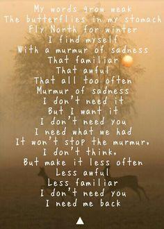 Murmur of sadness. - DMT