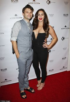 'We are madly in love': Vanderpump Rules stars Tom Schwartz and Katie Maloney insist they're still head over heels for each other (pictured June 2017)
