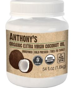 Anthony's Organic Extra Virgin Coconut Oil- 7 Best Coconut Oil Brands That You Can Trust Coconut Oil For Teeth, Coconut Oil Pulling, Cooking With Coconut Oil, Extra Virgin Coconut Oil, Coconut Oil Uses, Organic Unrefined Coconut Oil, Trust, Routine