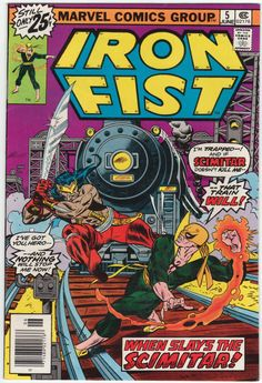 Iron Fist #5 NM-, John Byrne artwork, Gil Kane cover art, $36
