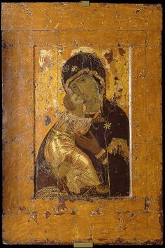 This is the oldest Russian icon that was - according to legends - painted by Luke The Evangelist on the board of table at which Jesus, Maria and Joseph have got their dinner. The icon was brought from Jerusalem to Constantinople in the middle of the 5th century. About 1131 the Greek Patriarch of Constantinople sent the icon as a gift to Grand Duke Yury Dolgoruky, one of the Ruriks.