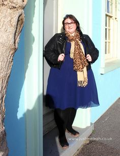 Just me, Leah.: Outfit | Scarlett & Jo navy dress from House of Fraser*