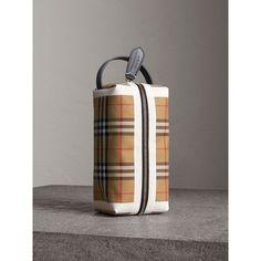 Pochette en coton à motif Vintage check et tartan 40695231