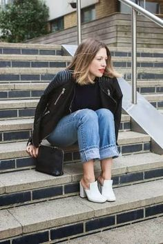 Image result for black bomber outfit
