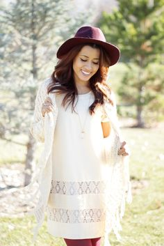 cream lace dress @SWELL