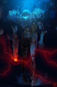 Samus corrupted - zombie power suit!