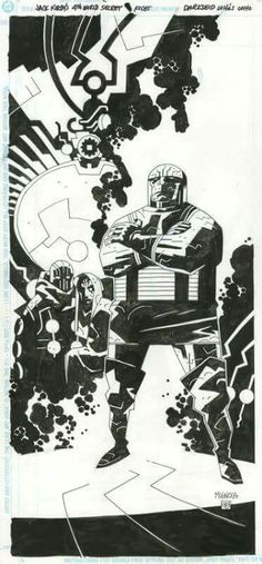 Darkseid by Mike Mignola * Comic Book Pages, Comic Page, Comic Book Artists, Comic Artist, Comic Books Art, Batman, Superman, Dark Horse Comics, Marvel Comics