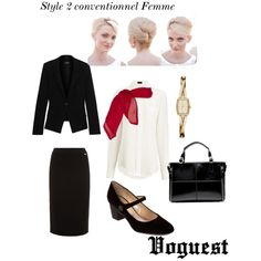 Style 2 conventionnel Femme by thevoguestparis on Polyvore featuring polyvore, mode, style, Joseph, Donna Karan, Escada Sport, Marc Jacobs and DKNY