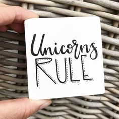 Unicorns rule 🦄 Painted MDF board or stained wood. 4 colors available. Perfect gift for the newborn at a babyshower or decorating the kidsroom. Or just for someone who's into unicorns. Every sign is made by my own 2 hands and that's what makes each piece unique. They are made from left-over wood which means it already has a little history (ohw how i love that part..) With every sign you buy you help a street dog to a better place AND save the environment (more about this on my etsy page..)