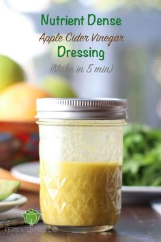 Lemony, nutty and cheesy. This apple cider vinegar dressing is nutrient dense and takes only a few minutes to make. Whole Food Recipes, Cooking Recipes, Healthy Recipes, Healthy Eats, Budget Recipes, Apple Recipes, Apple Cider Vinegar Dressing Recipe, Chutney, Sauces