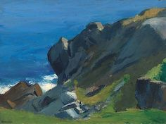 Rocky Shore and Sea, 1916-19 Edward Hopper