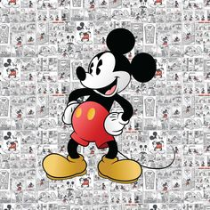MICKEY MOUSE Birthday Party Backdrop - Mickey Mouse Retro Birthday Party Background - Vintage Mickey Party Decoration Mickey Comics by printmorri on Etsy Mickey Mouse Imagenes, Arte Do Mickey Mouse, Vintage Mickey Mouse, Mickey Mouse Birthday, Mickey Mouse Drawings, Mickey Birthday, Mickey Mouse Wallpaper Iphone, Cute Disney Wallpaper, Images Disney