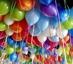 Balloons in a rainbow of colors. Birthday Greetings, Birthday Wishes, Birthday Cards, Birthday Messages, Birthday Images, Birthday Quotes, Birthday Gifs, It's Your Birthday, Happy Birthday