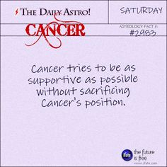Daily Cancer Astrology Fact: Have you seen your Love Scope this week?  Visit iFate.com now!